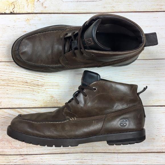 Timberland Baluster Brown Leather chukka boots 10